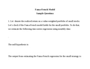 Fama-French questions