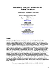 55.- Autocratic breakdown and regime transitions