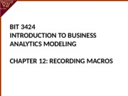 Lecture 12-Recording Macros