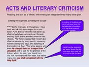 Acts+and+Literary+Criticism