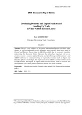 276613811-Developing-Domestic-and-Export-Markets-and-Levelling-Up-Trade-in-Value-Added-Lessons-Learn