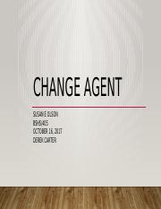 Susan E Olson BSHS405 Change Agent.pptx