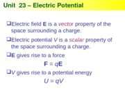 Physics 23 -Electric Potential