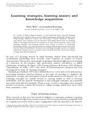 BJP_Warr and Downing_et al_2000_Learning strategies, learning anxiety and knowledge acquisition.pdf