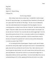 Inquiry Proposal Essay