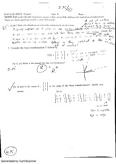 Linear Algebra Quiz 2