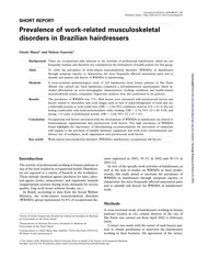 Prevalence of work-related musculoskeletal disorders in brazilian hairdresser