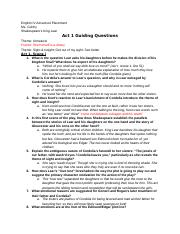King Lear - Act 1 Guiding Questions - CHALEY BOATMON.docx