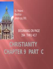 CHRISTIANITY  CHAP 9  PART C