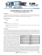 Isopod Behavior Flinn AP Biology Laboratory Kit.pdf