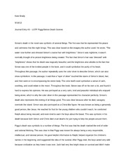 AP Literature- Journal #3 - lord of the flies