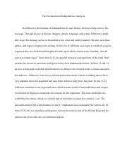 The Declaration of Independence Analysis .pdf