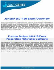 jn0-410 Juniper Networks Certified Specialist SDN and Automation Exam Dumps