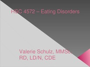 Ch 14 - Eating Disorders