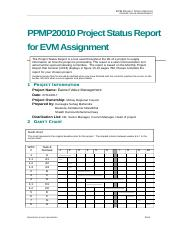 EVM Project Status Report - Template (4)