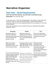 narrative organizer narrative organizer part one  narrative organizer narrative organizer part one 03 04 assessment over the next two lessons you will write a narrative essay directions first the