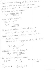 Review Sheet - Interest Theory (Part 1)