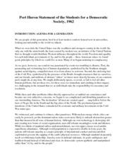 port huron statement analysis