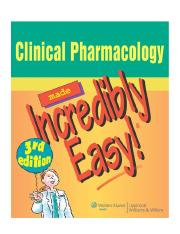 Nursing pharmacology study book