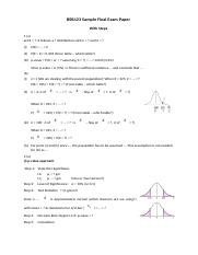 bsb123 solutions Bsb123 final exam preparation paperinclude:variationpoint estimatecentral  tendencyhypothesis testing (one sample test, two sample test)sampling.