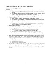 Fall 2013_PSYC 2000 Exam 2 Study Outline-3 copy