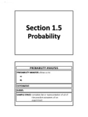 1.5 - Probability (No Solutions)