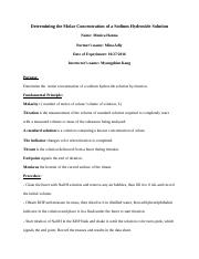 Determining the Molar Concentration of a Sodium Hydroxide Solution (Monica).docx