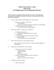 cns malformations study guide
