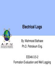 061 Elecctrical logs