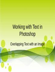 Working with Text in Photoshop