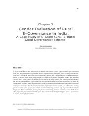 251573549_Gender-Evaluation-of-Rural-E-Governance-in-India--A-Case-Study-of-E-Gram-Suraj-(E-Rural-Go
