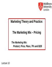 MKT1120 Lecture 10 Pricing Strategies.ppt