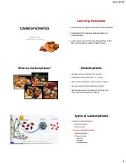 HESC4213-F13_Chapter 3-Carbohydrates
