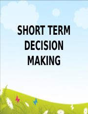 3. Short-term Decision Making.ppt