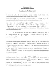 ECON 200 Problem Set 1 Solutions Fall 2007