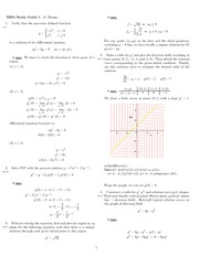 Exam 1 Study Guide Solution on Engineering Mathematics III (Numerical Methods) Spring 2009