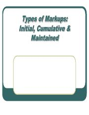 Chapter 6( types of markup)