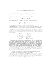 Topological functions review