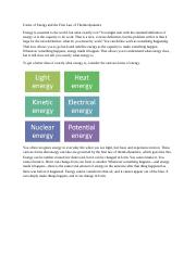 Forms of Energy and the First Law of Thermodynamics.docx