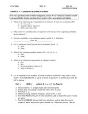 Rec 15 section 4.3 continuous RV - questions