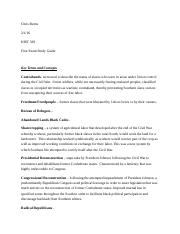 HIST 329 - First Exam Study Guide.docx