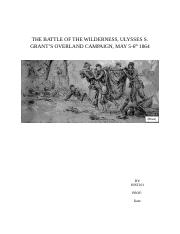 THE BATTLE OF THE WILDERNESS Assignment 2.docx