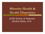 Minority Health and Disparities