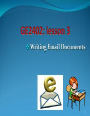 EN2402 Unit 3 Writing Email Documents_T17
