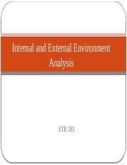 Internal and External Environment Analysis Power Point.pptx