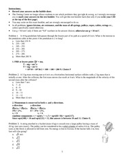 105 - exam 4 - Fall 2009 - solutions