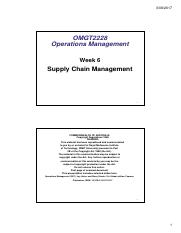 OMGT2228 Lecture Notes Week 9 [Compatibility Mode](1) pdf - OMGT2228