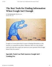 Pocket_ The Best Tools for Finding Information When Google Isn't Enough