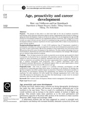 19. Age, proactivity and career development