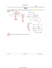 PHYS 11 Pulleys Worksheet Solutions